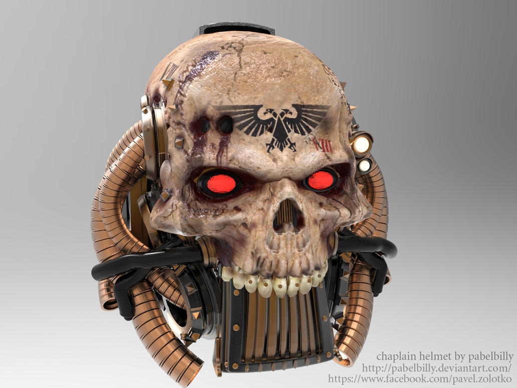 warhammer chaplain helmet by PabelBilly
