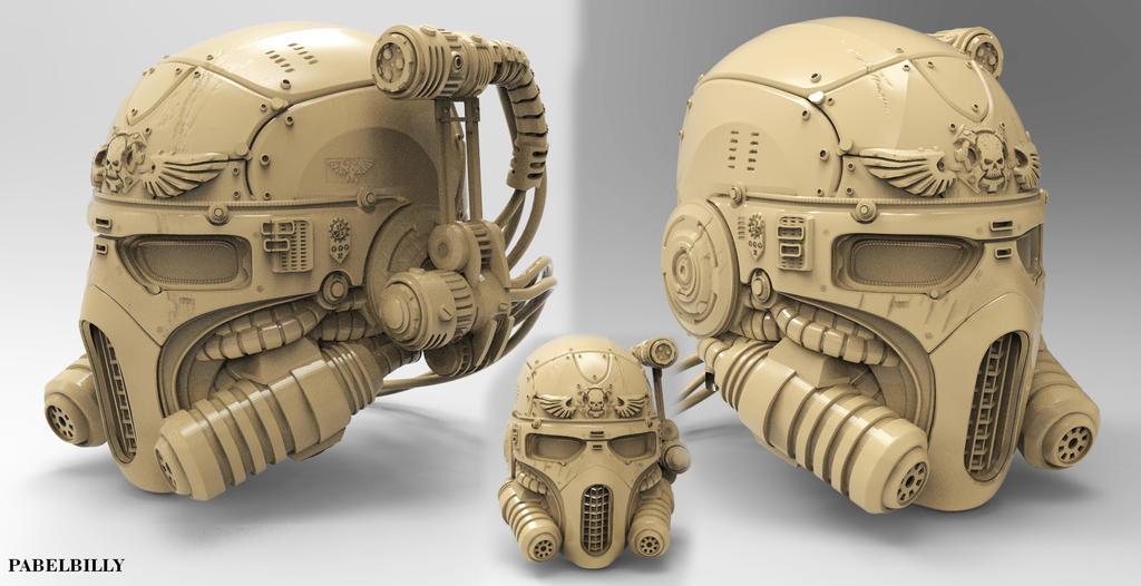 warhammer vindicare assassin helmet by PabelBilly