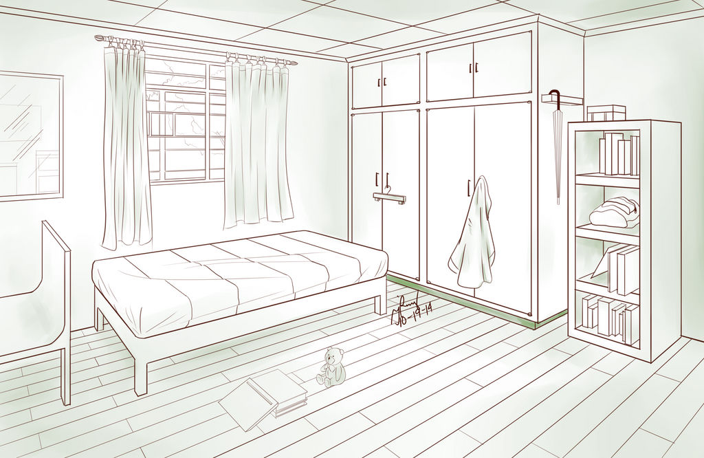 Bedroom Two Point Perspective By Pixelizedfate On Deviantart