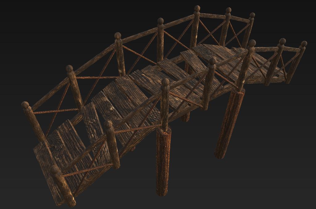 Wooden Bridge (Broken and Depreciated) by KhorelisSylvari