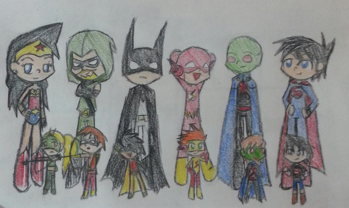 Justice league and young justice by Randompikaturtle on DeviantArt Green Arrow And Speedy Wallpaper