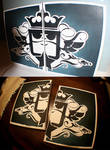 bday stencil by scrape