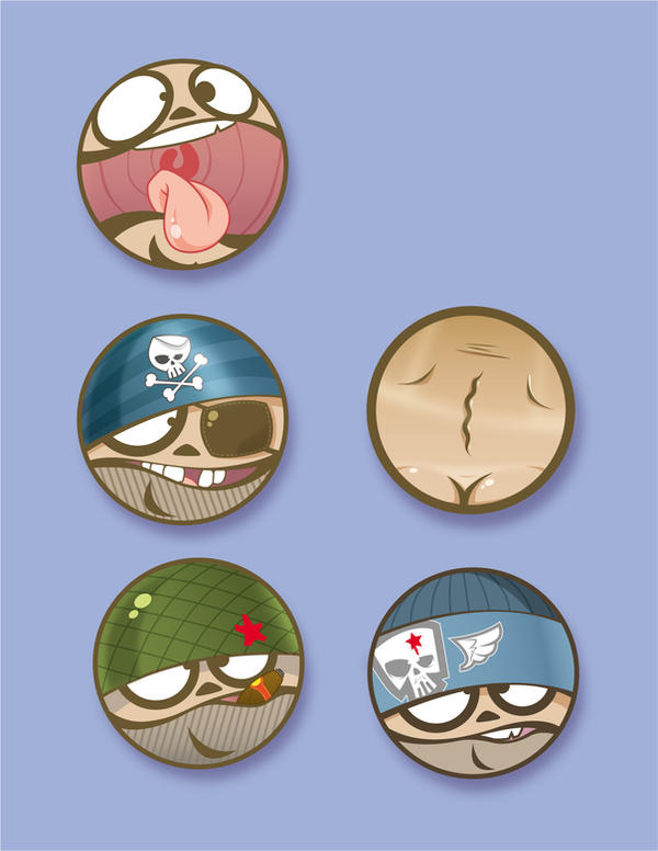 buttons by scrape