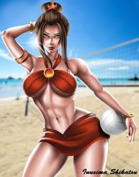 Beach Queen Azula by InusimaShikatsu