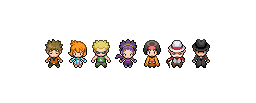 BW2 Kanto Gym Leaders by fotohut