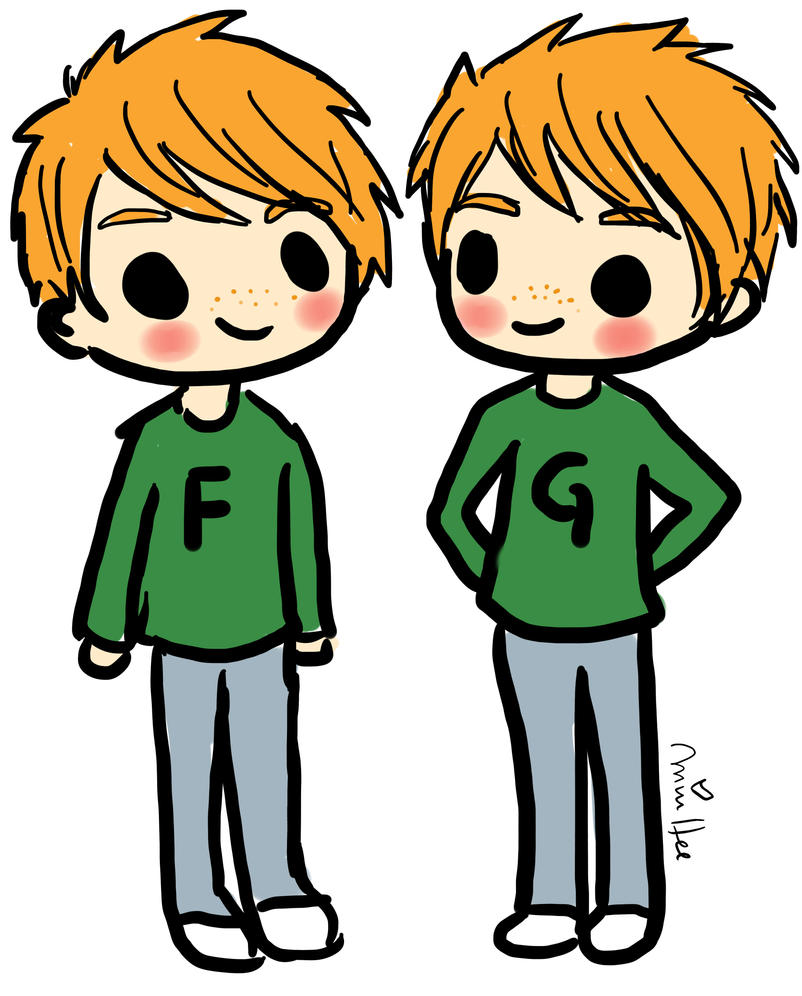 Fred and George Weasley by lemonpie-artFred And George Weasley Anime
