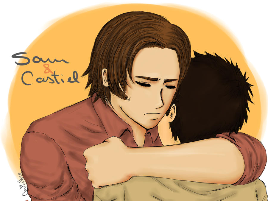 Sam and Castiel by lemonpie-art