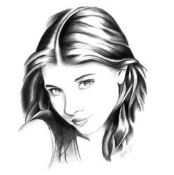 Portrait Michelle Trachtenberg by Edgart-nano