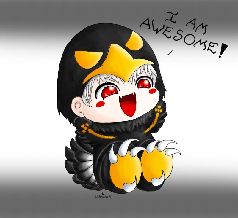 Chibi awesome eagle hetalia by acepalm