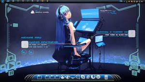 Desktop Setup Dec.2011 - Dreamscene and Rainmeter