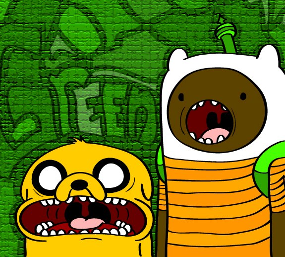 Black Finn And Jake by theoneandonlymrgreen