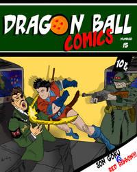 Dragon Ball American Comics Golden Age style Cover by Tapdesuroproduccions