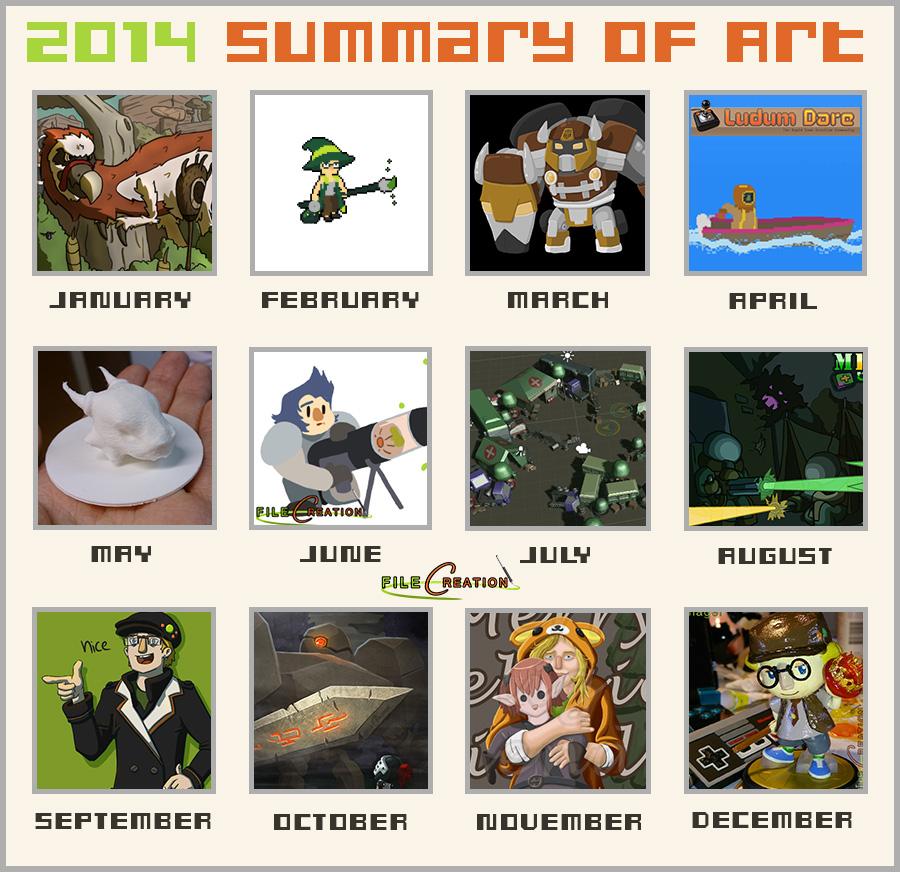 2014 Art Summary by Filecreation