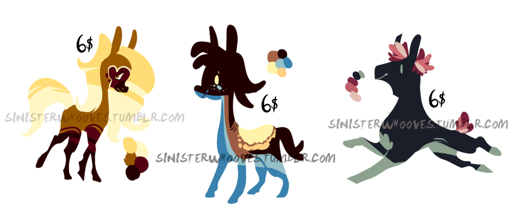 6$ Adoptables [OPEN!] by Malwur