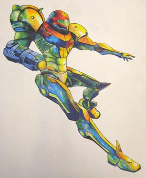 Falling Samus -color-