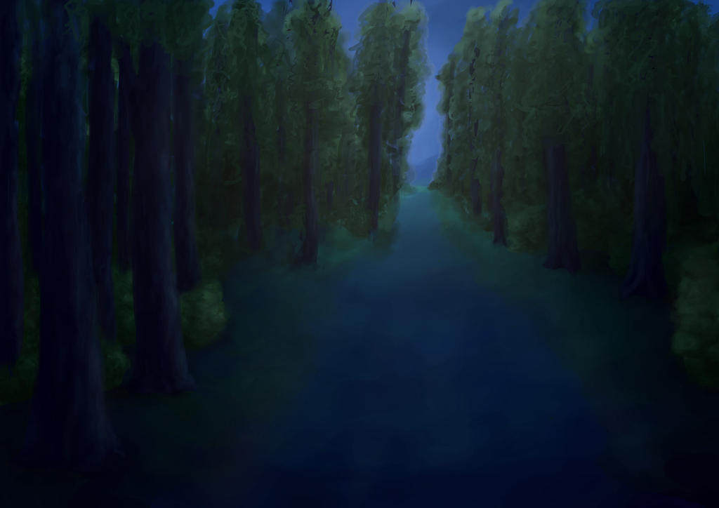 Night forest by aNNiMON119