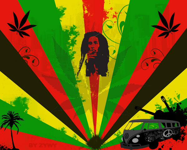 Bob Marley wallpaper by ~zywy on deviantART