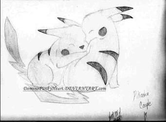 Pikachu Couple by DominoPunkyHeart