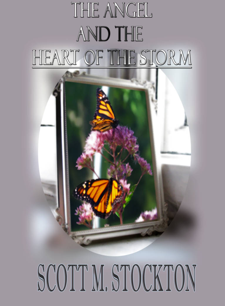 The Angel and the Heart of the Storm - Book Cover by DominoPunkyHeart