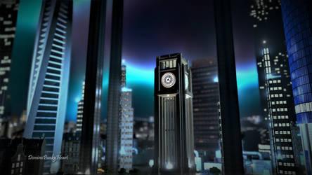 Nestor Tower - Nightfall by DominoPunkyHeart