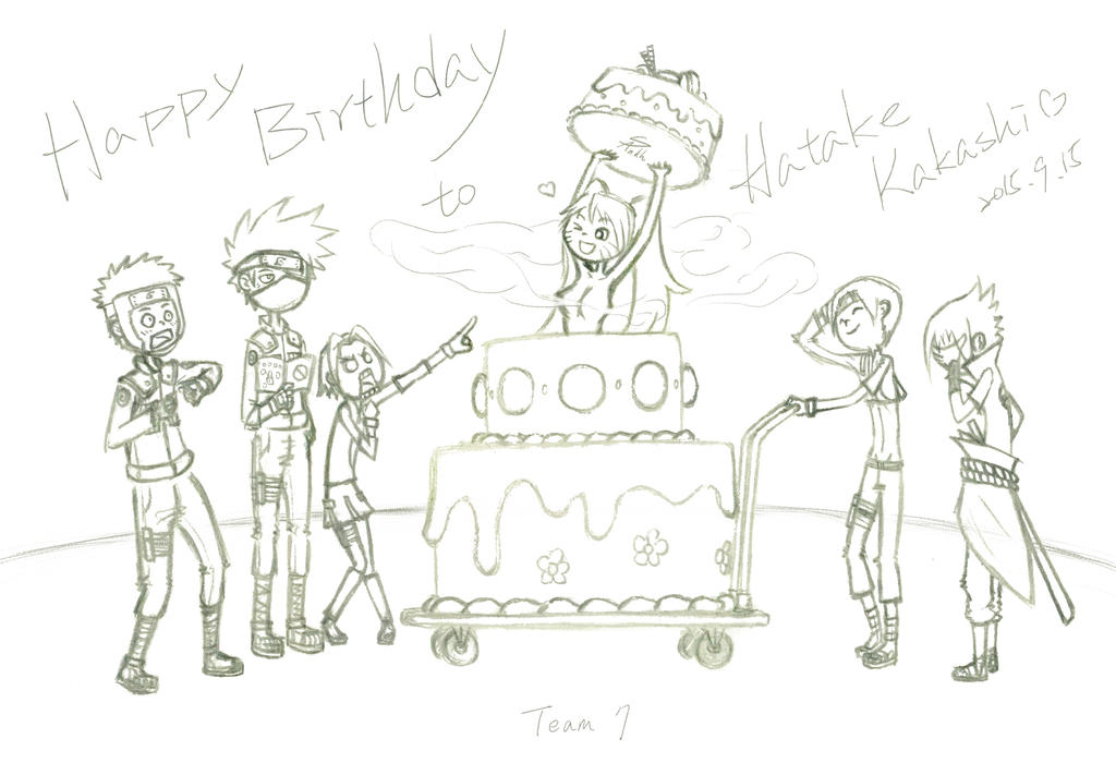 Happy Birthday Hatake Kakashi by SharonAnkh