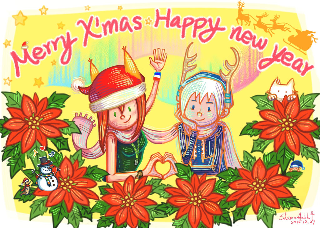 2015 Merry Chrismas and Happy new year :D by SharonAnkh