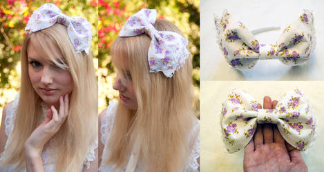 Lavender Flower Bow