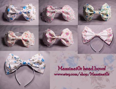 Floral Print Headbows