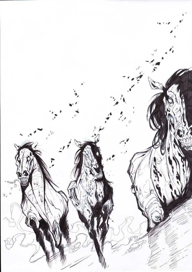 zombie horses... by gs...