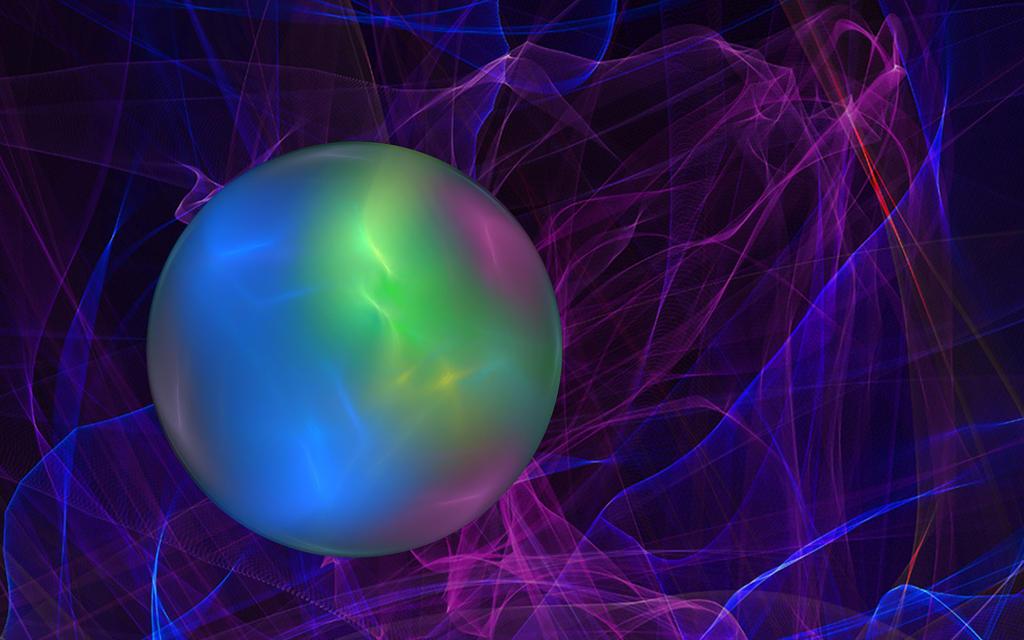 Glowing Orb Wallpaper by dreamerscove