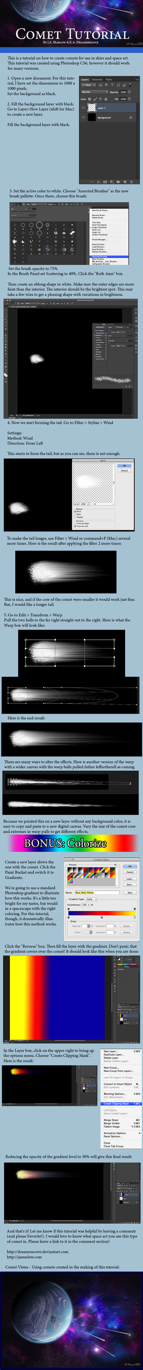 Comet Tutorial by dreamerscove