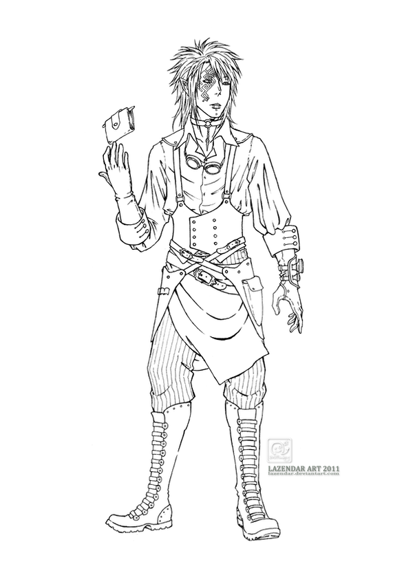 .Steampunk: Daranthor Lineart by lazendar on deviantART