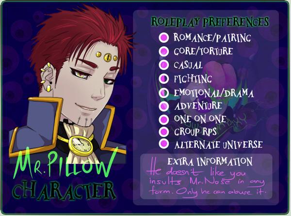 HM RP Meme - Mr.Pillow by lazendar
