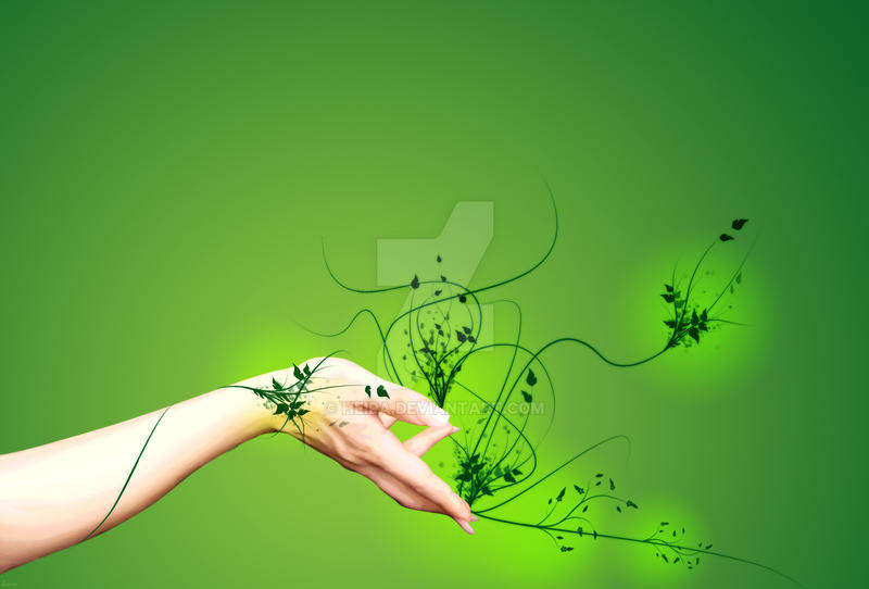 Green Hand by heira