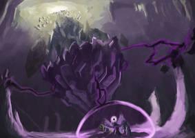 Final Showdown at the Dark Crystal Engine by Plainoasis