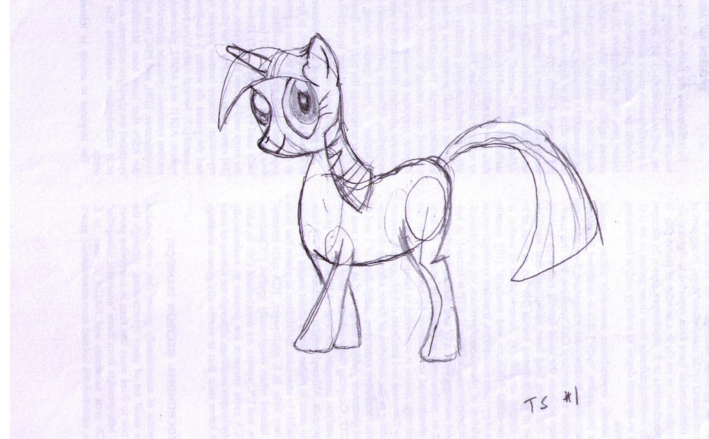 02 First Drawing of Twilight Sparkle (Cropped) (c2 by Plainoasis
