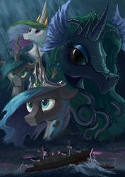Equestria's Changeling Queen cover art by Plainoasis