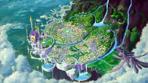 Canterlot city by Plainoasis