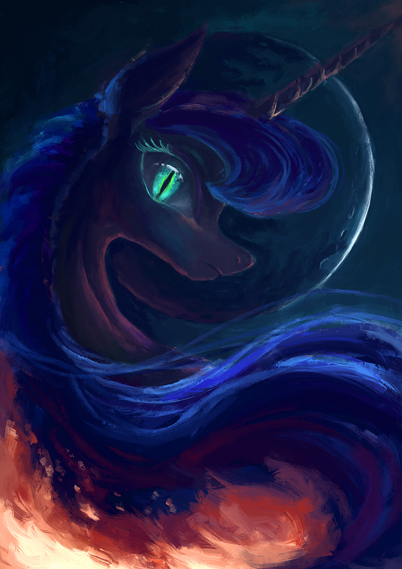 Shadowed moon by Plainoasis