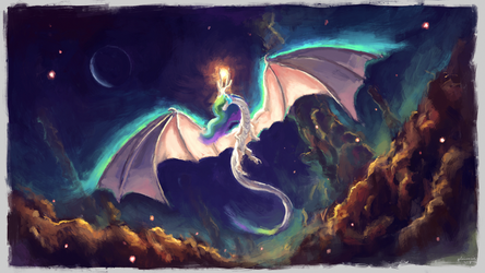 Celestia dragon by Plainoasis