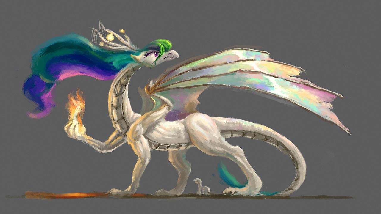 Celestia dragon (Take 2) by Plainoasis