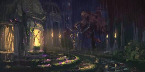 Palace garden by Plainoasis