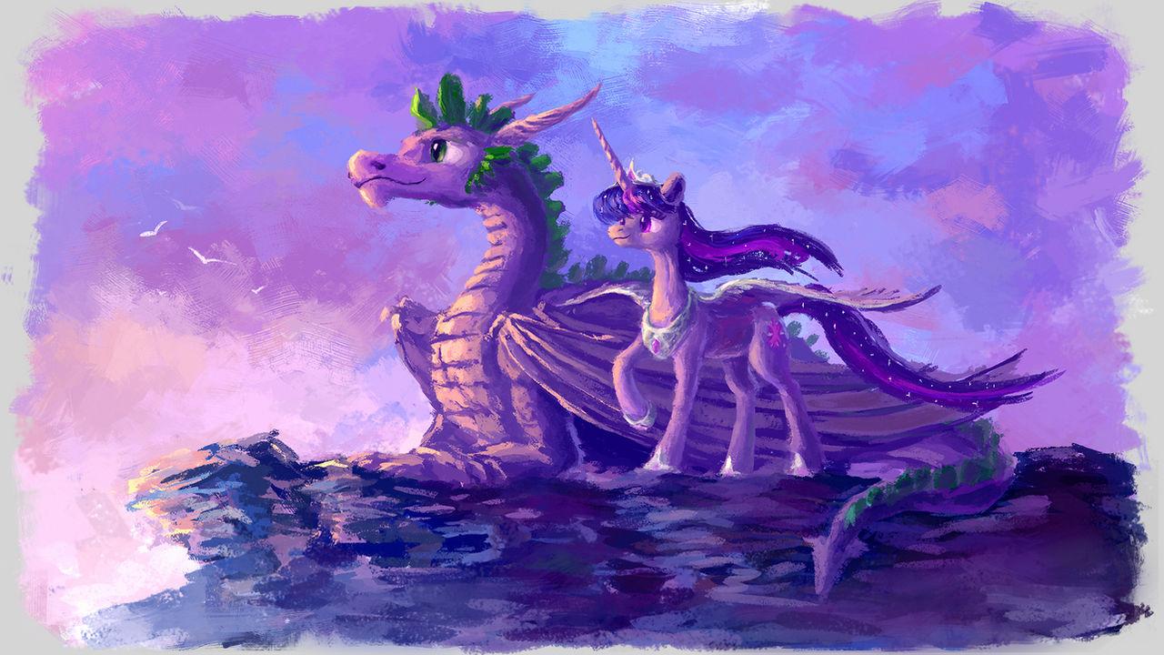 Princess and dragon by Plainoasis