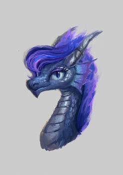 Princess Luna dragon portrait