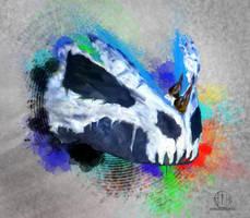 Argonian Dubstep Skull by Rolledupsocks
