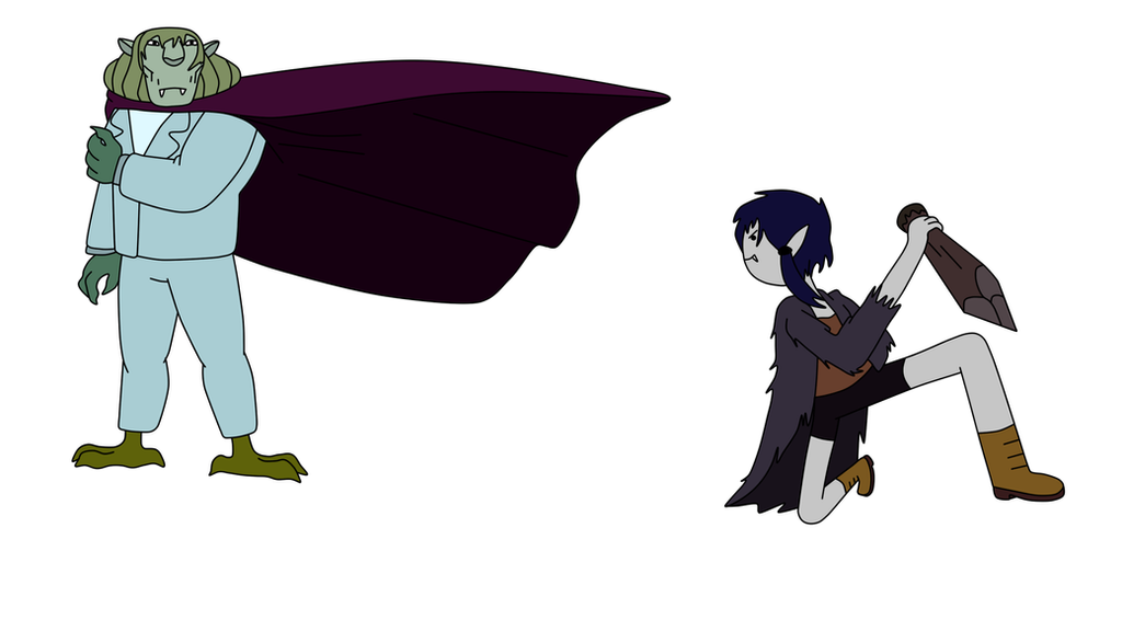 Marceline Vs Vampire King Color By Philelmago On Deviantart