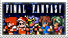 Final Fantasy retro heroes stamp by CosmoAlien