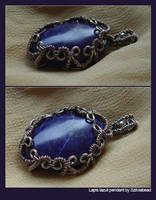 Lapis lazuli pendant by bodaszilvia