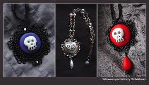 halloween pendants by bodaszilvia