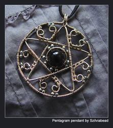 Pentagram pendant by bodaszilvia